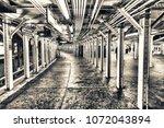 subway train station interior.   Shutterstock . vector #1072043894
