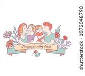 happy family. vector... | Shutterstock .eps vector #1072048790