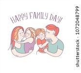 happy family. vector... | Shutterstock .eps vector #1072048799