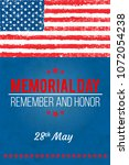 memorial day. remember and... | Shutterstock .eps vector #1072054238