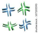 crosses styles icons | Shutterstock .eps vector #107205593