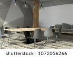 modern meeting room interior... | Shutterstock . vector #1072056266