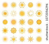 vector collection of sun icons... | Shutterstock .eps vector #1072056296