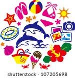 clip art summer | Shutterstock .eps vector #107205698