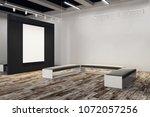 contemporary exhibition hall... | Shutterstock . vector #1072057256