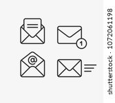 mail vector icon set. email ...