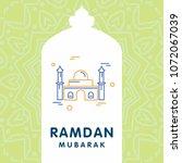 ramadan kareem vector...   Shutterstock .eps vector #1072067039