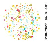floral spring and summer vector ... | Shutterstock .eps vector #1072070084