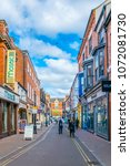 leicester  united kingdom ... | Shutterstock . vector #1072081730