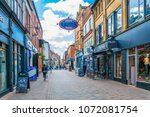 leicester  united kingdom ... | Shutterstock . vector #1072081754