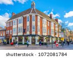 leicester  united kingdom ... | Shutterstock . vector #1072081784