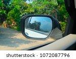 rear view mirror in a car  | Shutterstock . vector #1072087796