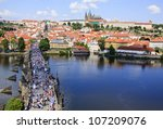 View Of Prague  Charles Bridge...