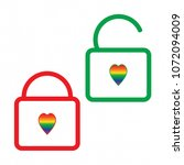 lock vector icon  lgbt flag ...