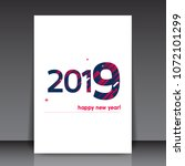 colorful 2019 happy new year... | Shutterstock .eps vector #1072101299