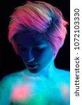 model young beautiful girl... | Shutterstock . vector #1072103330