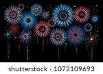 vector holiday firework.... | Shutterstock .eps vector #1072109693