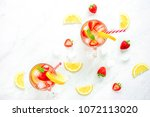 colorful refreshing drinks for... | Shutterstock . vector #1072113020