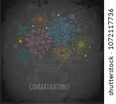 greeting card with colored...   Shutterstock .eps vector #1072117736