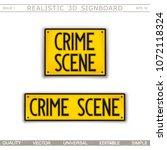 signboard design. crime scene.... | Shutterstock .eps vector #1072118324