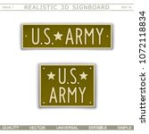 military signboard. u.s. army.... | Shutterstock .eps vector #1072118834