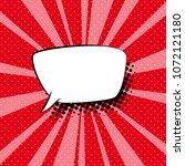speech bubble on red pop art... | Shutterstock . vector #1072121180