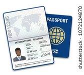 international passport template ...   Shutterstock .eps vector #1072124870