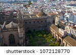 aerial view from the top of... | Shutterstock . vector #1072128770