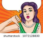 vector pop art comic style... | Shutterstock .eps vector #1072128830