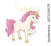 beautifull unicorn character on ...   Shutterstock .eps vector #1072134179