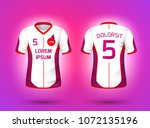 football  soccer sport t shirt... | Shutterstock .eps vector #1072135196