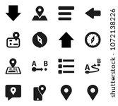 flat vector icon set   compass... | Shutterstock .eps vector #1072138226