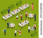 catering isometric composition... | Shutterstock .eps vector #1072140530