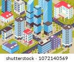 modern city center district... | Shutterstock .eps vector #1072140569