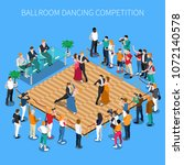 ballroom dancing competition... | Shutterstock .eps vector #1072140578