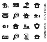 flat vector icon set   house... | Shutterstock .eps vector #1072140836