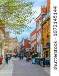 nottingham  united kingdom ... | Shutterstock . vector #1072145144