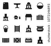 flat vector icon set  ... | Shutterstock .eps vector #1072146893