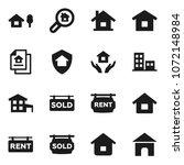 flat vector icon set   house... | Shutterstock .eps vector #1072148984