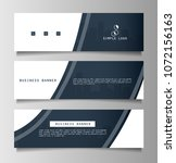 set of business banner template ... | Shutterstock .eps vector #1072156163