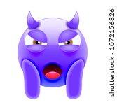 mean face screaming devil emoji.... | Shutterstock .eps vector #1072156826