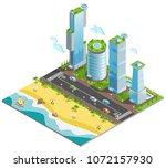 isometric colored futuristic... | Shutterstock .eps vector #1072157930