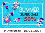 summer time hot sale... | Shutterstock .eps vector #1072162076