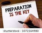 word writing text preparation... | Shutterstock . vector #1072164980