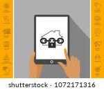 home lock icon   Shutterstock .eps vector #1072171316