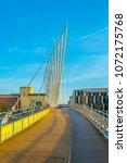 view of a footbridge in salford ... | Shutterstock . vector #1072175768