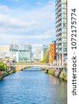 riverside of river irwell in... | Shutterstock . vector #1072175774