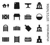 flat vector icon set  ... | Shutterstock .eps vector #1072176506