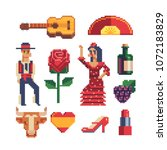 spain traditional elements... | Shutterstock .eps vector #1072183829