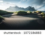 unique view on the green hills... | Shutterstock . vector #1072186883